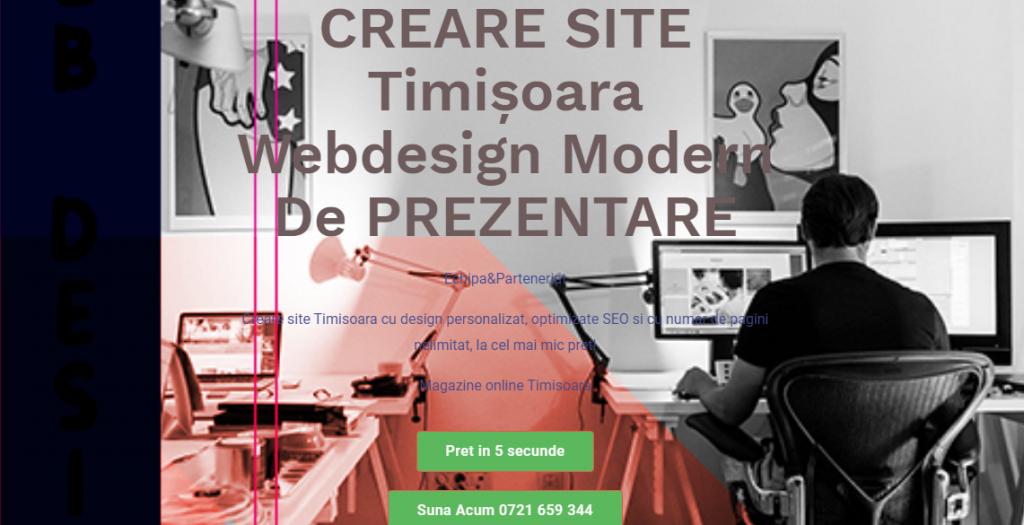 Creare site Timisoara, webdesign timisoara, realizare site timisoara