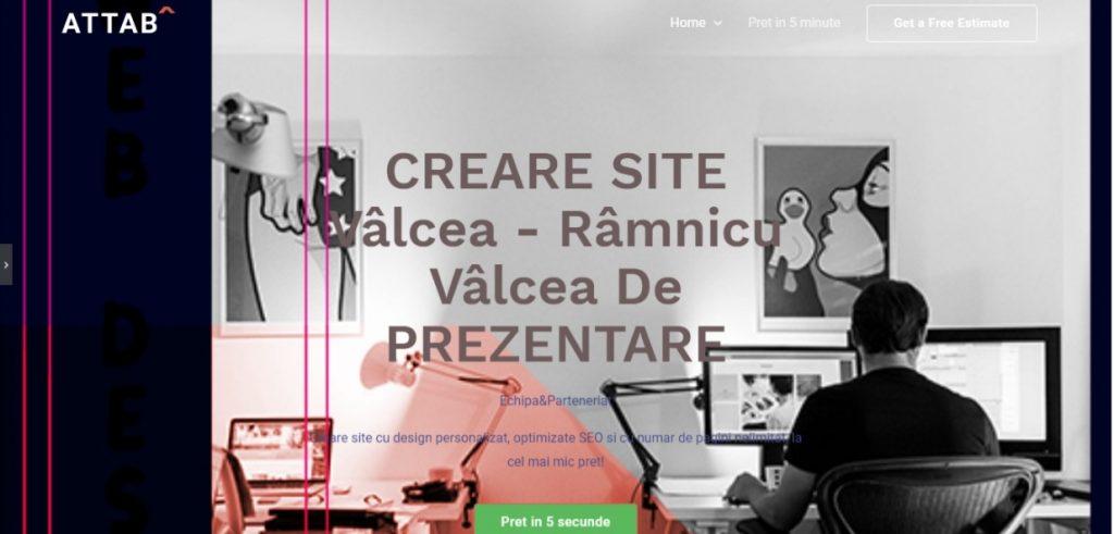 Creare site Valcea Webdesing Valcea